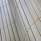 TOP MULTI PVC Sichtschutz-Matte für Balkon/Garten 0,8m x 3m natural-bamboo beige | Sichtschutz-Zaun inkl. Befestigung + wetterfest | Windschutz-Matte | Blende | Blickschutz-Zaun | Balkon-Verkleidung