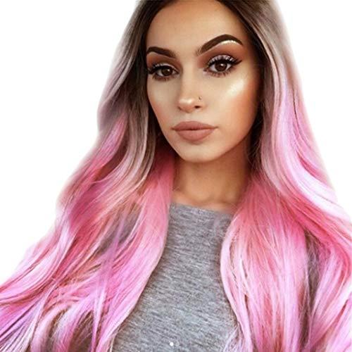 Damen gewellt Lockig Kurzer Pferdeschwanz Schachtelhalm Farbverlauf Haarverlängerungen Extensions Halbperücke Haarverdichtung Schöne Damenperücke