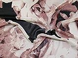 John Kaldor Floral Print Chiffon Kleid Stoff Dusty