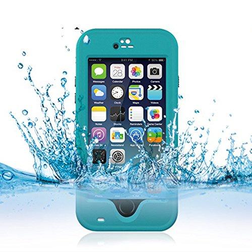 Cuitan Wasserdicht Schutzhülle Hülle für Apple iPhone 6 Plus (Schwarz), Multi-Layer-Hybrid TPU + PC Schutzhülle Rückseite Handyhülle mit Ständer Design Bumper Case Cover Shell für iPhone 6 Plus Dunkelgrün