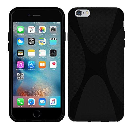 Apple iPhone 6S (4,7 Zoll) - TPU Schutzhülle X-Style X Design Case Schutz Cover Etui Hülle in Weiß - RT-Trading Schwarz