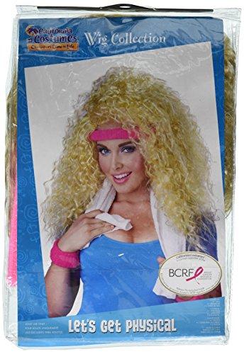 Generique - Blonde 80er Perücke mit Stirnband (Lets Kostüm Physical Get)