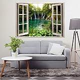 Decomonkey: Optische Täuschung/ Weitblick 3D Fensterblick ca 140x100 cm Wandbild Fototapete Tapete Poster XXL3D Vlies Leinwand Panorama Bilder DekorationTOC0023aM