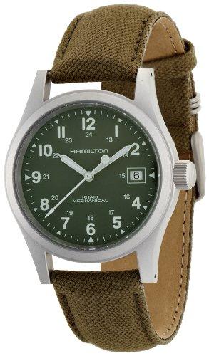 Hamilton Khaki Field Officer Handwinding - Reloj (Reloj de pulsera, Masculino, Acero inoxidable, Acero inoxidable, Lienzo, Verde)