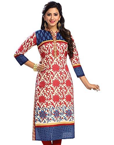 Jevi Prints Women's Cotton Unstitched Kurti Fabric(Saheli-1514_Multicolor Free Size)
