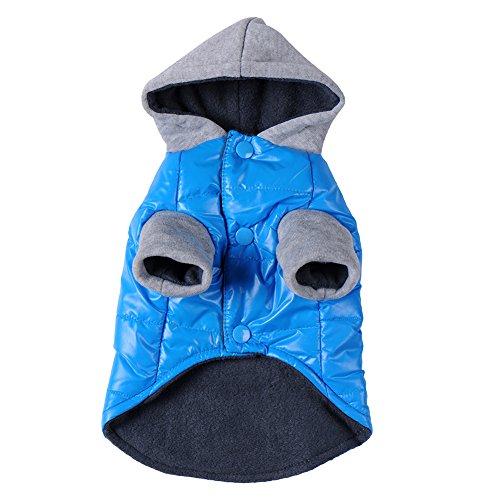 Haustiermantel Hunde Kleidung Cotton Flannelette Mantel Hoodie Jumpsuit Jacken für Große Hunde Katze Welpen Haustier Winter Blau - Minion Kostüm Fallen