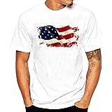 DoraMe Camicie Polo T-Shirt da Uomo Slim Manica Corta Lettera Maglietta Shirts Camicia Camicetta Cappotto Maglione Giacca Felpe Pullover Hoodie Uomini Poliester - American Flag (Asia XL)