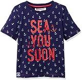 RED WAGON Jungen T-Shirt mit Ankermuster, Blau (Multi), 110 (Herstellergröße: 5 Jahre)