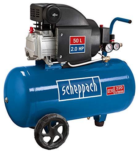 Scheppach Kompressor HC54 (1500 Watt, 50 L, 8 bar, Ansaugleistung 220L/min, ölgeschmiert) -