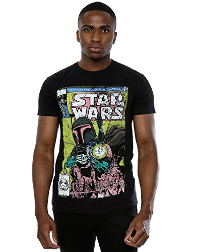 Star Wars Herren Boba Fett Comic T-Shirt X-Large Schwarz