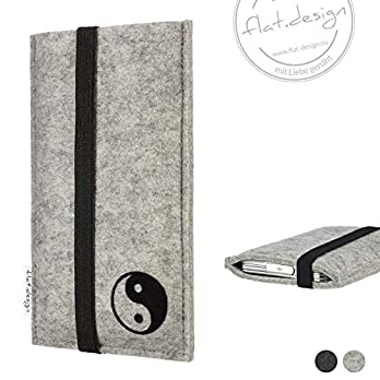 Handy Hülle COIMBRA – Filz Handy Tasche Yin & Yang