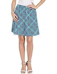Globus Blue Check Skirt