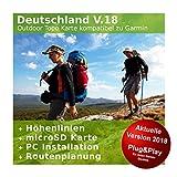 Deutschland V.18 - Profi Outdoor Topo Karte kompatibel zu Garmin GPS 60, GPSMap 60Cx, GPSMap 60CSx, GPSMap 62s, GPSMap 62sc, GPSMap 62st, GPSMap 62stc, GPSMap 64, GPSMap 64s, GPSMap 64st
