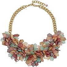 Moda coloridos Jelly claro flores de plástico las mujeres collar flor fiesta ocasión especial joyas Joyería Mujer