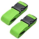 Yizhet 2 Pezzi Cinghie da Viaggio Bagagli Imballaggio Cintura Valigia Cinghie Regolabile Sicurezza per Bagaglio cintura a scatto regolabile e antiscivolo per bagaglio da viaggio, Verde