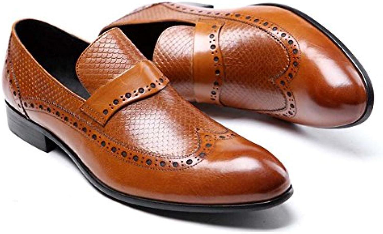 Zapatos de Vestir de Negocios para Hombres Zapatos Cómodos y Transpirables Ambiente Zapatos nuevos de Moda (Color... -