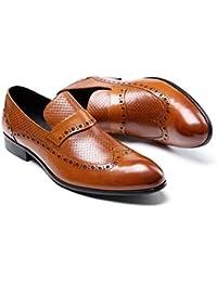 GLSHI Scarpe da uomo d'affari da uomo Stealth Aumenta le scarpe singole Trend Fashion Atmosphere (Colore : Nero, Dimensione : 39)