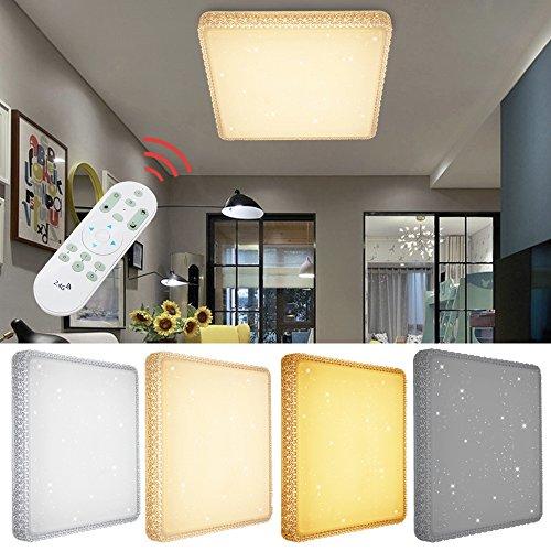 VINGO 60W LED Deckenlampe Dimmbar Starlight-Effekt Deckenbeleuchtung Wohnzimmer Wandlampe...