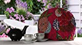 #7: Pink and Green kitchen accessories Kettle cover Tea Cosy Teapot Tea Cosy By Rajrang
