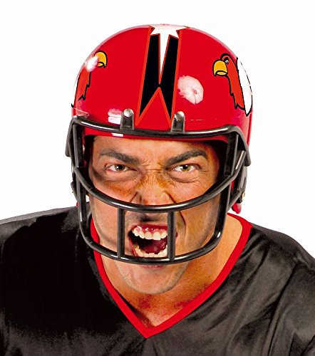 AMERICAN FOOTBALL HELM - rot, 59 cm, Nationalsport Sportart Player Spieler Sportler Quarterback NFL USA Trikot Cheerleader (Und Kostüme Spieler Football Cheerleader)