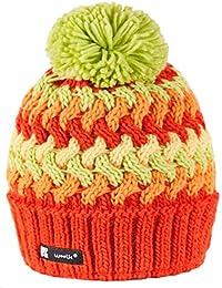 Gorro de invierno, unisex, para niño o niña, estilo esquimal, nórdico, cálido, forro polar, con borla