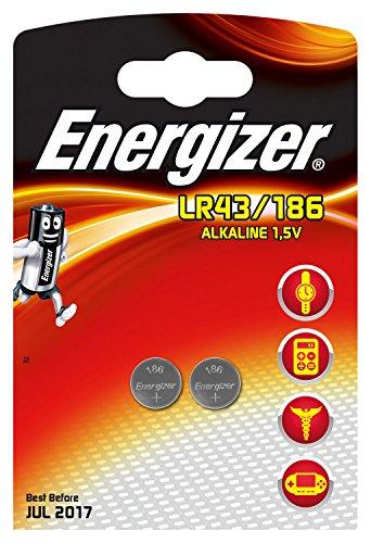 Energizer Spezialbatterie 186 (LR43 Alkali Mangan 1,5 Volt 2er-Packung)