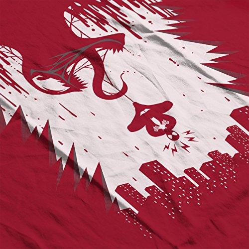 Spiderman Venom Spider City Women's Hooded Sweatshirt Cherry Red