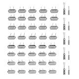 Akozon Osciladores de Cristal Cuarzo DIY Kit oscilante de cristal de cuarzo clasificado 50 piezas 10Valor 32.768KHz -24MHz Set