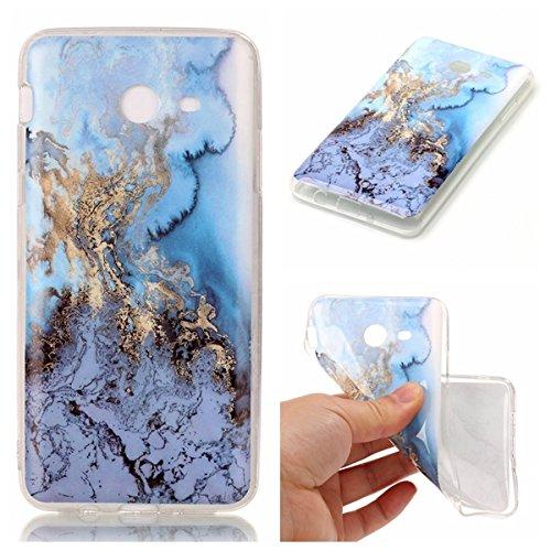 Preisvergleich Produktbild Linvei TPU Silikon Case für > Samsung Galaxy J7 (2017) < [Marmor Muster] Ultra Dünn Handycase Anti-Scratch Telefon-Kasten-A6