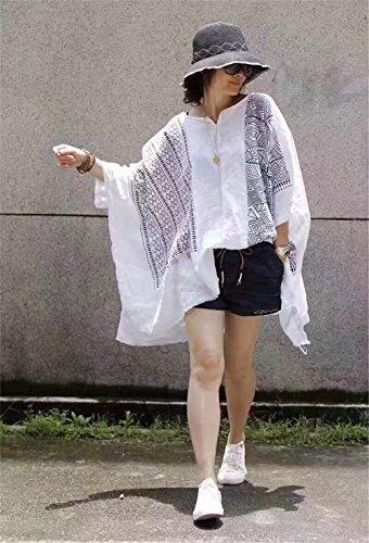 Yesno Damen Bluse Weiß