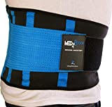 "MEDiBrace Lower Back Support Brace Medical Grade for Injury Prevention during Sports Exercise or Pain & Discomfort Relief from Sciatica, Slipped Disc, Hernia, Spinal Stenosis | Waist Belt with Adjustable Double Strap | Improve Lumbar Support Posture for Men & Women (39"" to 48"" (99-122cm) XX-LARGE, Persian BLUE)"