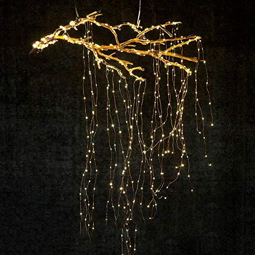 sakj-d Weihnachtsbaumrebe Lampe 14 Himmel Sterne Baum Rebe Zweig Lampe Wasserdicht Kupferdraht LED Lampe String Vorhang Lampe Romantische Hochzeit