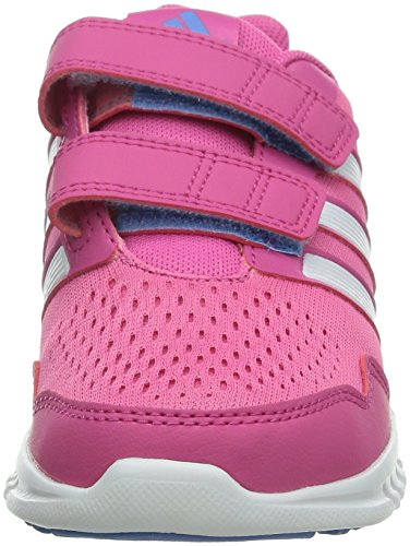 Adidas Runfastic CF, chaussures d'intérieur, Fille Pink (Semi Solar Pink/Ftwr White/Pink)