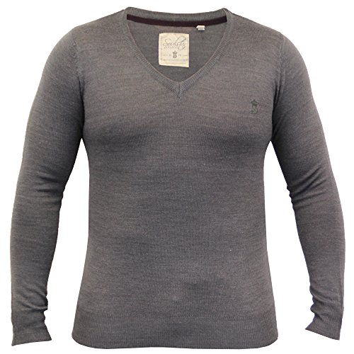 Pull Homme Soul Star Pull Tricot Pull Col Rond Col V Léger Hiver Gris - ALPHAVEE