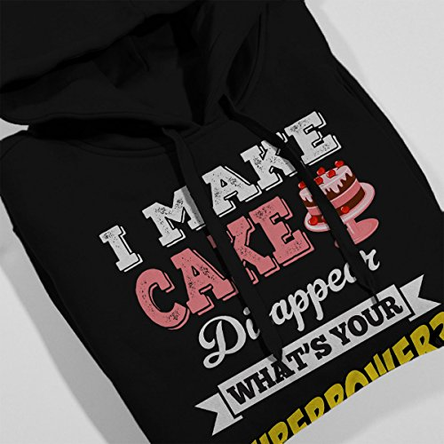 I Make Cake Disappear Whats Your Superpower Men's Hooded Sweatshirt Black