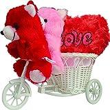 Anishop 2 Cute Teddy Running A Bicycle W...
