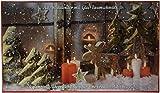 Krebs & Sohn Adventskalender mit Christbaumschmuck - 24 teiliges Set aus Glaskugeln - Weihnachtsbaumschmuck - Gold, Rot