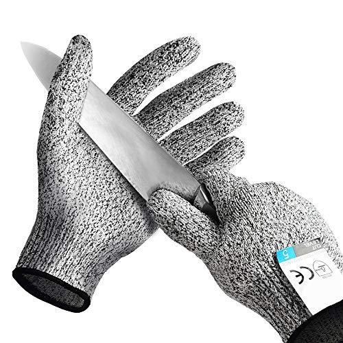 Preisvergleich Produktbild Schnittfeste Handschuhe - Schutzgrad 5, Sicherheits Schnitthandschuhe für Küche,  Mandolinenschneiden,  Fischfilet,  Austernscheren,  Fleisch schneiden und Holzschnitzen, 2pairs, XL