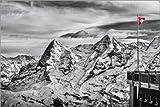 Posterlounge Leinwandbild 150 x 100 cm: Swiss Flag von Tanja Arnold Photography - fertiges Wandbild, Bild auf Keilrahmen, Fertigbild auf Echter Leinwand, Leinwanddruck