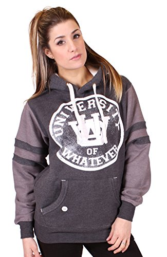 university-of-whatever-sweat-a-capuche-femme-varsity-unisex-m-varsity-noir-melange-w101