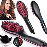 #9: OZOY Simply Straight 2 In 1 Ceramic Hair Straightener Brush - Black
