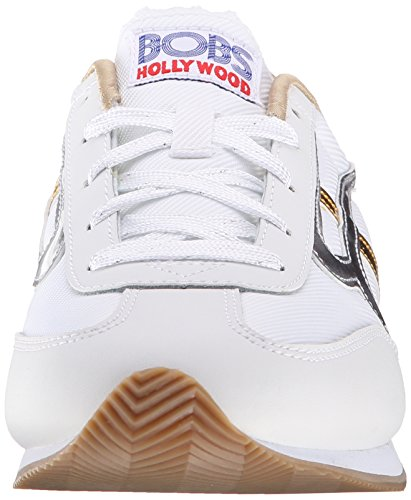 Bobs De Skechers Sunset Fashion Sneaker White/silver/gold