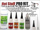 Satellite City Hot Stuff Colle Kit Pro (Ca, Comprend Glues accélérateur, Debonder, Becs Extra) Hk-1
