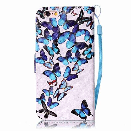 Owbb sourire PU cuir Housse de protection coque pour iPhone 6 / 6S (4.7 pouces) étui cover case Color 08