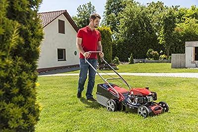 AL-KO Benzin-Rasenmäher Classic 4.66 SP-A, 46 cm Schnittbreite, 2.0 kW Motorleistung, für Rasenflächen bis 1.400 m², Schnitthöhe 7-fach zentral verstellbar, mit Radantrieb