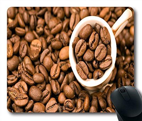 Essen und Trinken Kaffee Bohnen Tapete rutschfeste Gummi Gaming Mauspad Größe 22,9cm (220mm) X 17,8cm (180mm) X 1/8(3mm)
