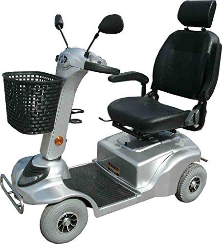 """Alpenmobil """" Mobi City 80"""" silber - altersgerechtes Behindertenfahrzeug / Invalidenfahrzeug für Senioren oder Personen mit Gehbehinderung"""