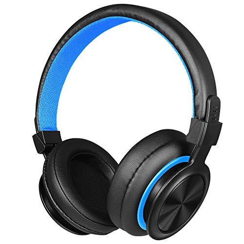 feiXIANG Gaming Kopfhörer mit Mikrofon für PC Notenpult tragbar Stereo Kopfhörer Gaming faltbar Stereo Sport Bass Schwere Isolierung Acustico Audio Surround Taglia unica blau -