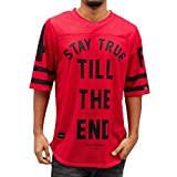 Rocawear Football Shirt Men STAY TRUE TILL THE END Red 400, Größe:L
