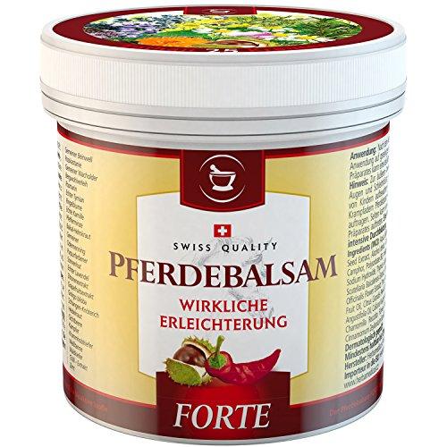 SwissMedicus Pferdebalsam wärmend extra stark - Pferdesalbe Forte 500 ml - wärmender Massage-Gel für Rücken und Gelenke - enthält 25 Kräuterextrakte